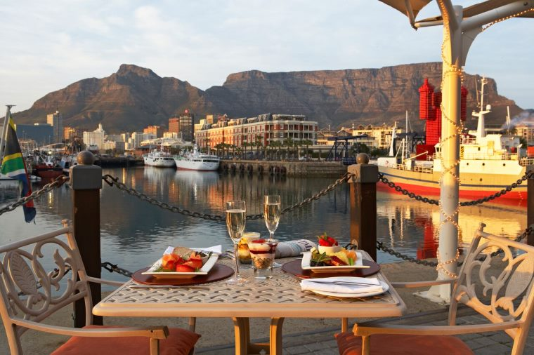 OYO restaurant offering spectacular views over Table Mountain